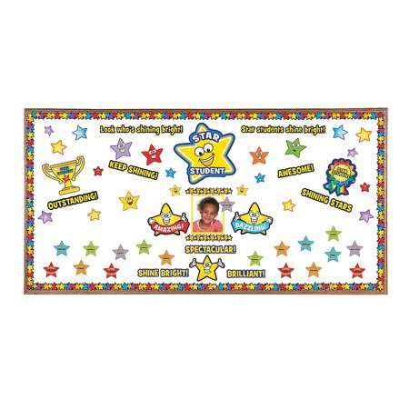 Fun Express - Star Student Mini Bulletin Board Set - Educational - Classroom Decorations - Bulletin Board Decor - 1 Piece](Decorating Classroom)