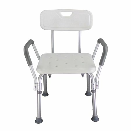 Akoyovwerve Ergonomic Shower Bath Chair Seat for Elderly , Old People Bathroom Armchair, Aluminum alloy, White ()