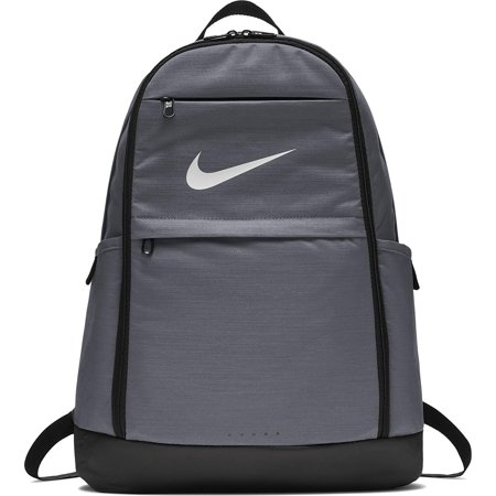 NIKE Brasilia Backpack, Flint Grey/Black/White,