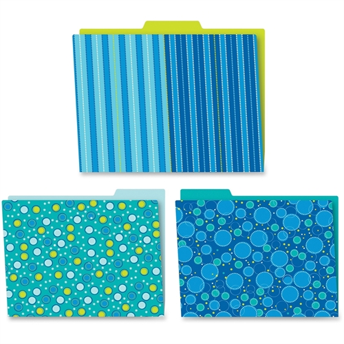 Carson-Dellosa Bubbly Blues File Folders Set, Pack of 6