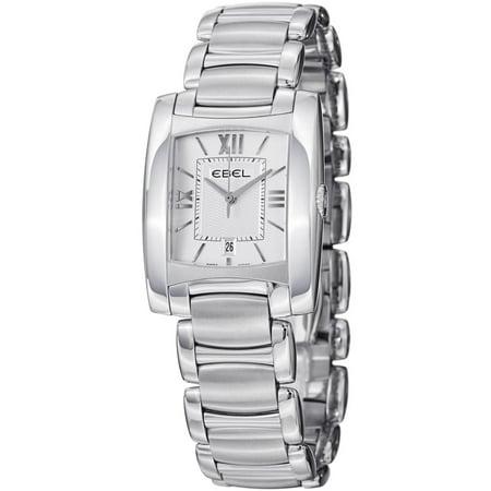 Brasilia 9257M32-64500 28x28mm Silver Steel Bracelet Case Synthetic Sapphire Women's
