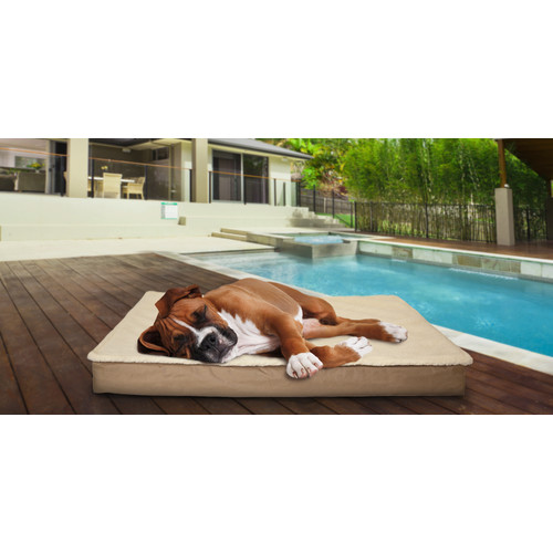 FurHaven Deluxe Outdoor Orthopedic Pet Bed with Removable Cover