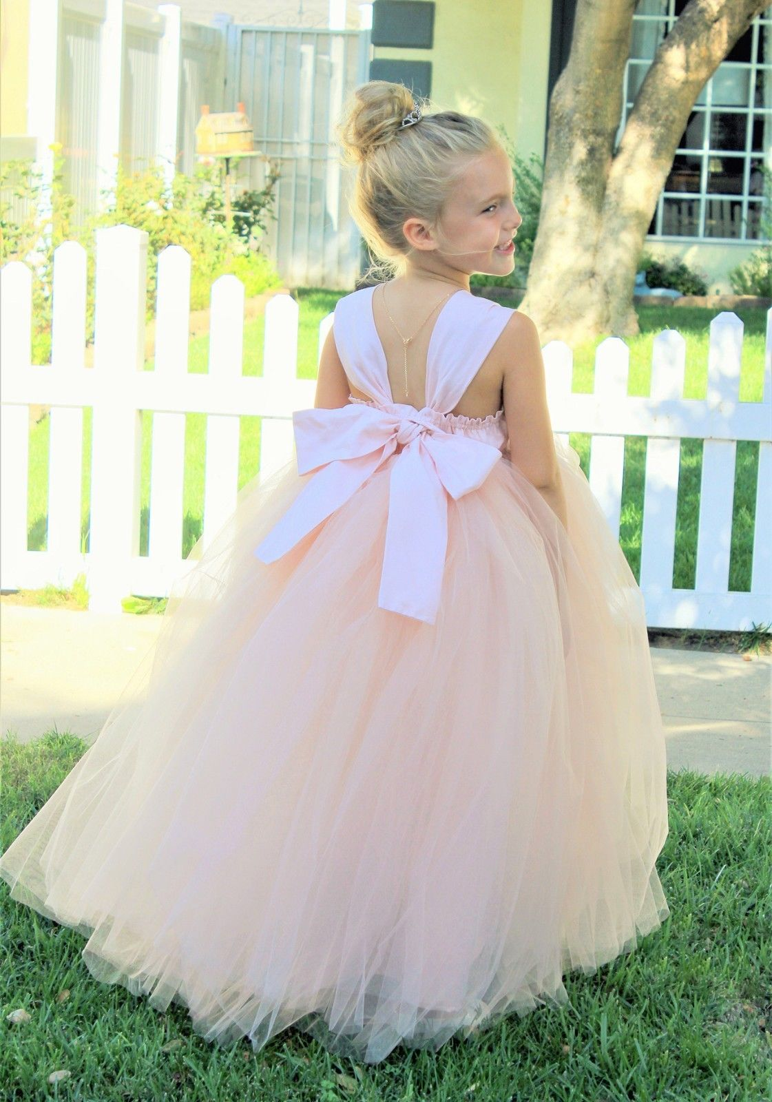 Ekidsbridal Sweetheart Neck Cotton Blush Pink Tutu Flower Girl Dresses Ball Gown Princess Dresses Formal Dress 171