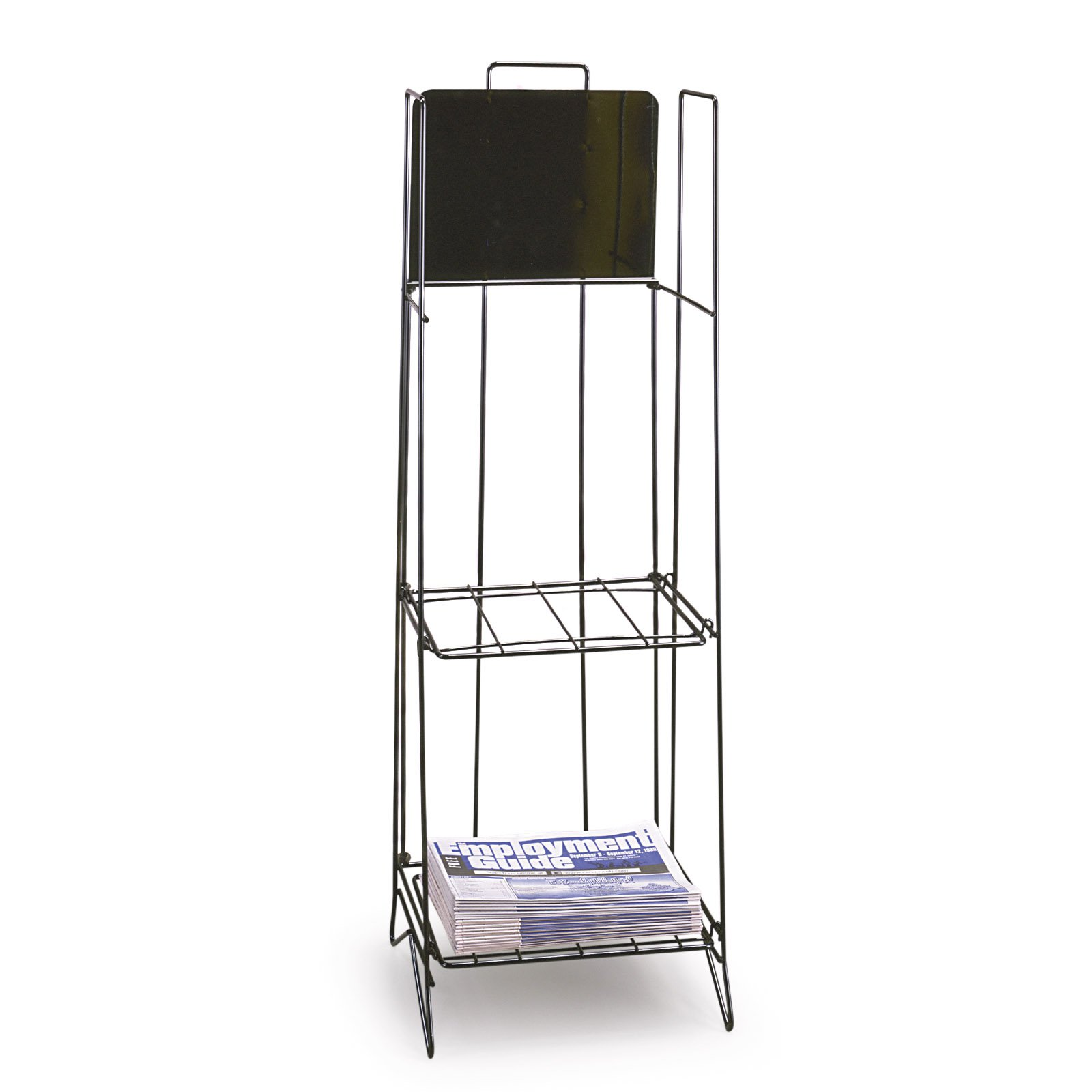 Black Quarterfold Newspaper Rack