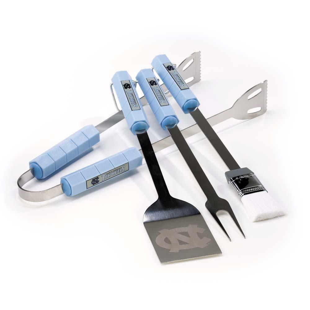 Bsi Products Inc North Carolina Tar Heels 4 Pc Bbq Set BBQ Tool Set