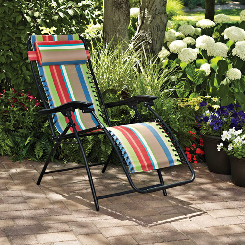 Amazing Mainstays Bungee Lounge Chair, Multiple Colors (Multi Stripe)