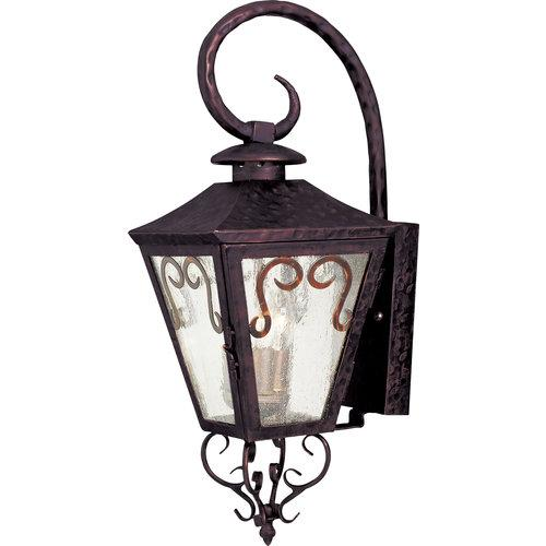 Maxim  30154  Wall Sconces  Cordoba  Outdoor Lighting  Outdoor Wall Sconces  ;Oil Rubbed Bronze / Seedy Glass