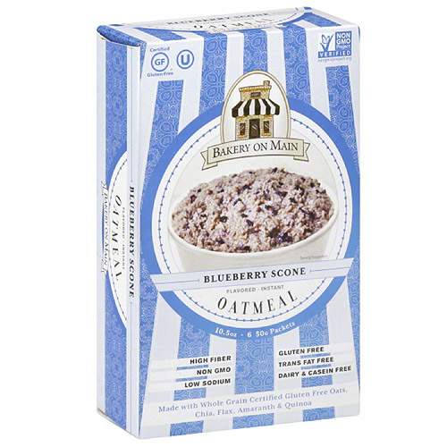 Bakery on Main Blueberry Scone Oatmeal, 10.5 oz, (Pack of 6)