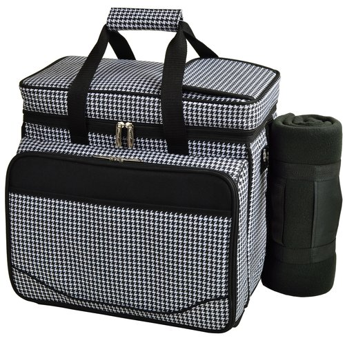 Picnic At Ascot Houndstooth Deluxe Picnic Backpack