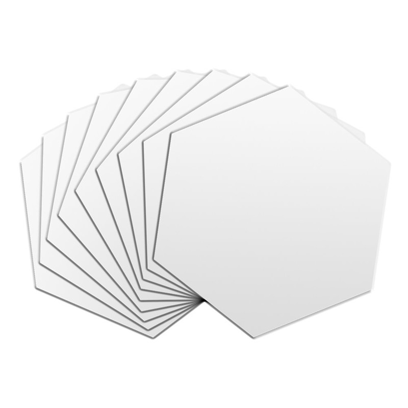 WALFRONT 12pcs Modern 3D Mirror Geometric Acrylic Wall Sticker DIY Art Decor New - image 2 of 7