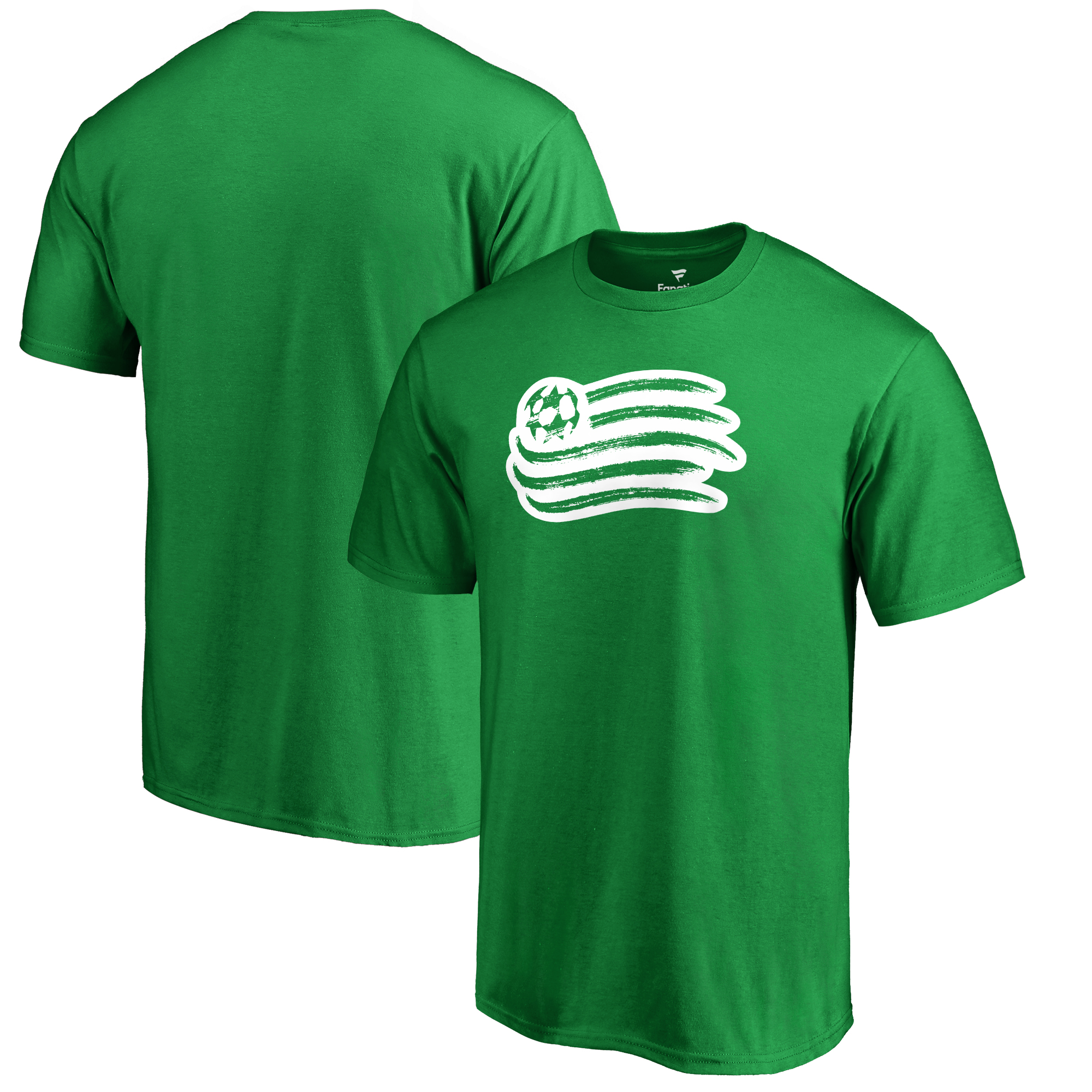 New England Revolution Fanatics Branded St. Patrick's Day White Logo T-Shirt - Kelly Green