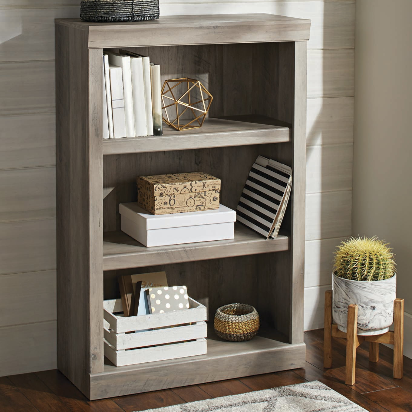 Better homes gardens glendale 3 shelf bookcase rustic - Better homes and gardens bookshelf ...