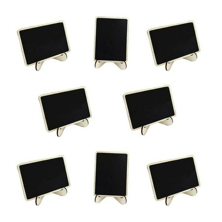 10pcs Mini Blackboard Wood Memo Board Message Board Rectangle Chalkboard with Stand](Cheap Chalkboards)