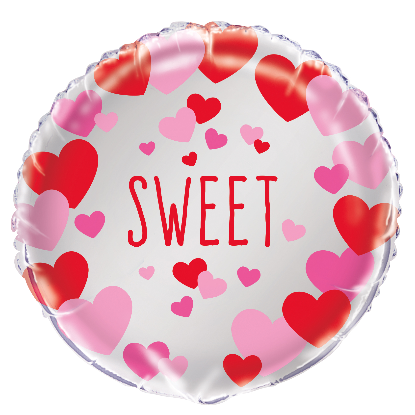 "Foil ""Sweet"" Valentine's Day Heart Balloon, 18 in, Red & Pink, 1ct"