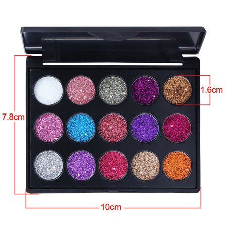 DZT1968 Shimmer Glitter Eye Shadow Powder Palette Matte Eyeshadow Cosmetic Makeup for $<!---->