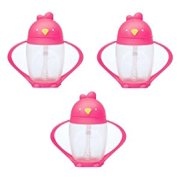 Lollacup Infant And Toddler Straw Cup, 3 Pack - Pink/Pink/Pink
