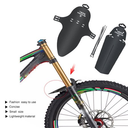 1 Set Cycling MTB Mountain Bike Bicycle Front + Rear Mud Guards Mudguard Fenders 1 Piece Rear Set