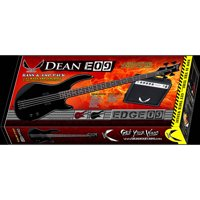 Dean Edge 09 4-String Bass Guitar Pack with Amp, Gig Bag, Tuner, Cord, Strap and Picks - Metallic Red