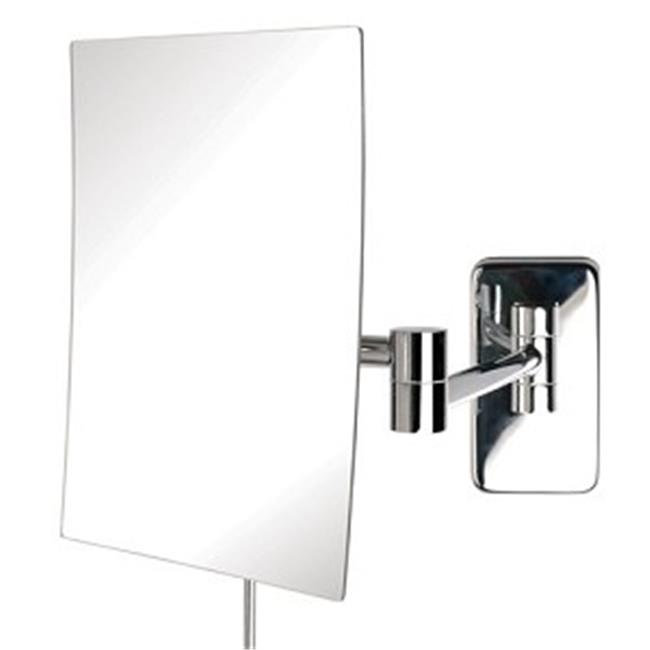 Jerdon Hl1016cl 9 5 Inch Led Lighted Wall Mount Makeup Mirror With 5x Magnification Chrome Finish