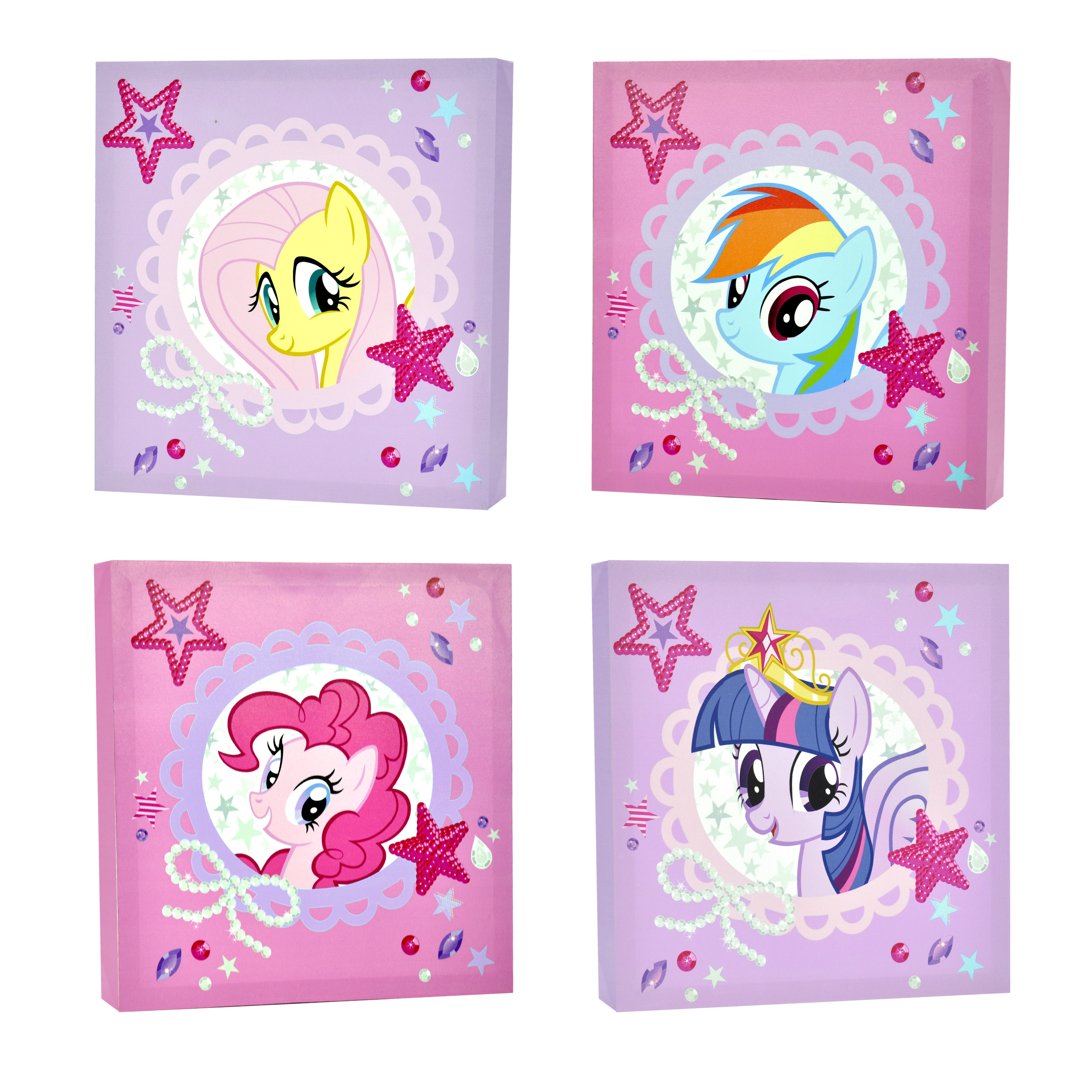 My Little Pony 4-Piece Canvas Wall Art