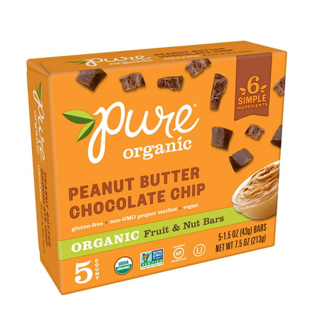 Pure Organic Peanut Butter Chocolate Chip Fruit & Nut Bar 7.5 oz 5
