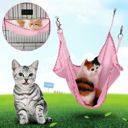 VBESTLIFE Kitten Hammock Bed,3 Colors Cute Small Pet Cat Dog Cage Hammock Kitten Puppy Ferret Soft Hanging Bed Animal Rest Dog Cage - Sports Ferret