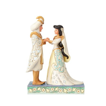 Jim Shore Disney Jasmine & Aladdin Wedding 4056750 New 2017 ()