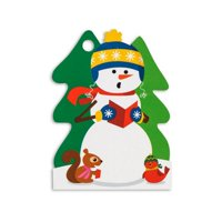 Caroling Snowman Specialty Gift Cards / Tags - 2.75in. x 3.75in. - 6 Pack