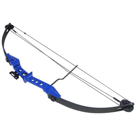 19-29 lb Black / Blue Archery Hunting Compound Bow +Quiver +Armguard +2 26