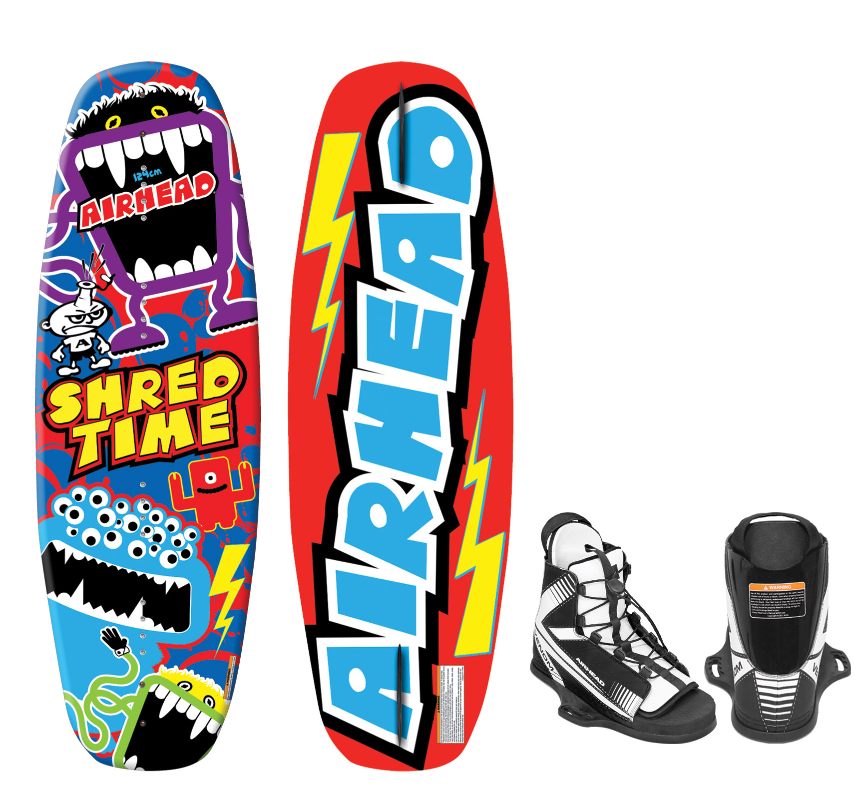 Click here to buy SHRED TIME Wakeboard w VENOM Binding 4-8 by AIRHEAD SPORTS GROUP.