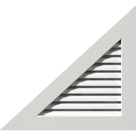 "22""W x 16 1/2""H Right Triangle Gable Vent - Left Side (31""W x 23 1/4""H Frame Size) 9/12 Pitch: Unfinished, Functional, PVC Gable Vent w/ 1"" x 4"" Flat Trim Frame"