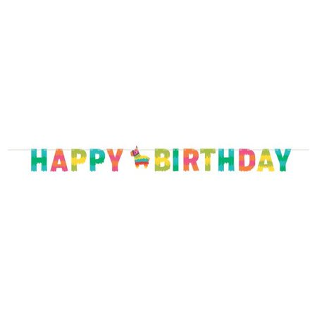 Creative Converting Fiesta Fun Shaped Banner With Twine, Happy Birthday](Fiesta Banner)