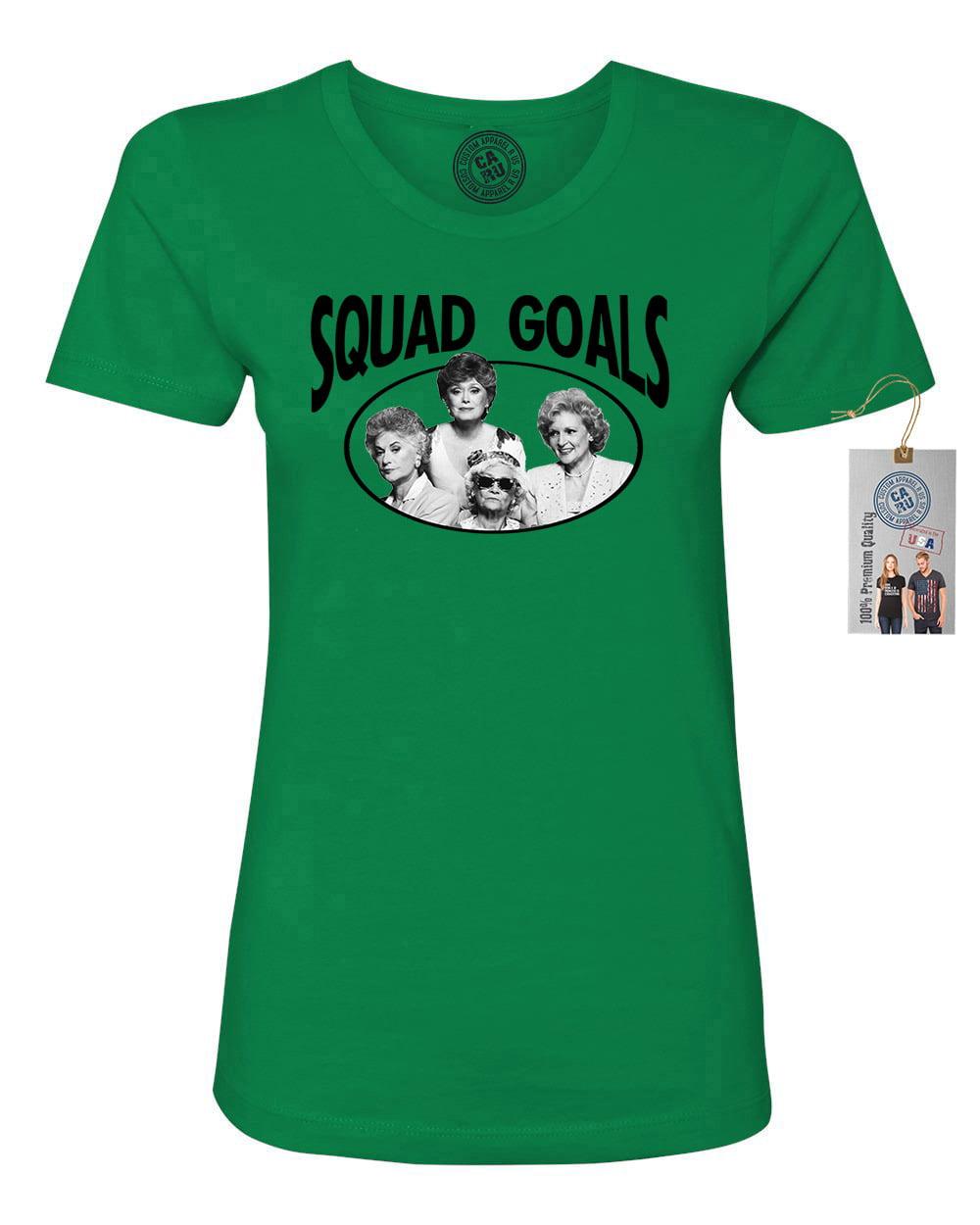 golden girls tv show squad goals womens short sleeve shirt