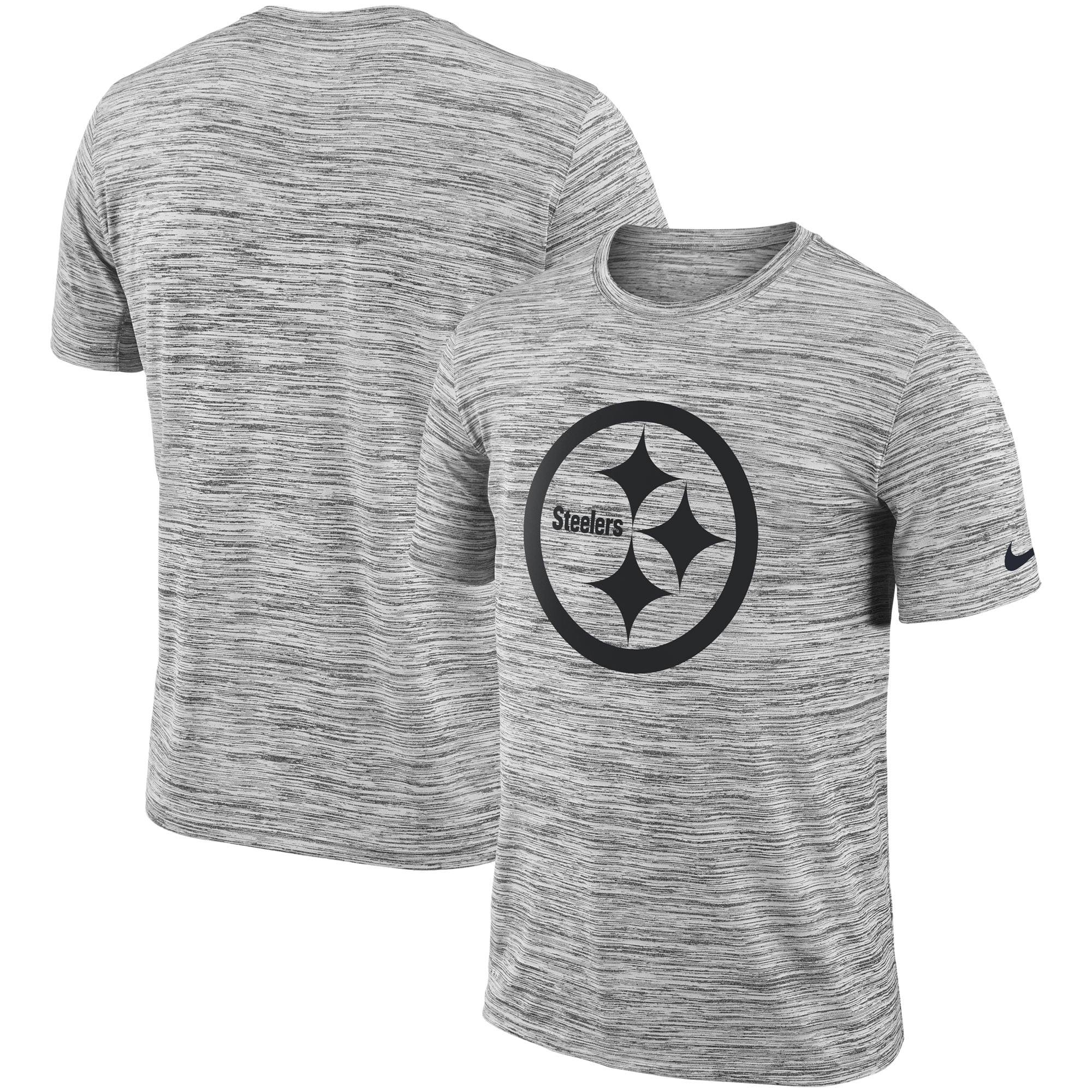 Nike Men's Pittsburgh Steelers Legend Velocity Travel Performance Grey T-Shirt