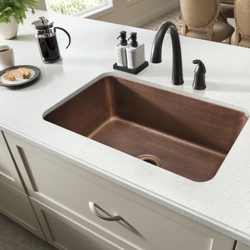 Sinkology Orwell 30'' L x 18'' W Undermount Handmade Single Bowl Kitchen Sink