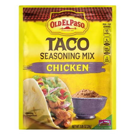(4 Pack) Old El Paso Chicken Taco Seasoning Mix, .85 oz (Chicken Taco Recipe With Taco Seasoning Packet)