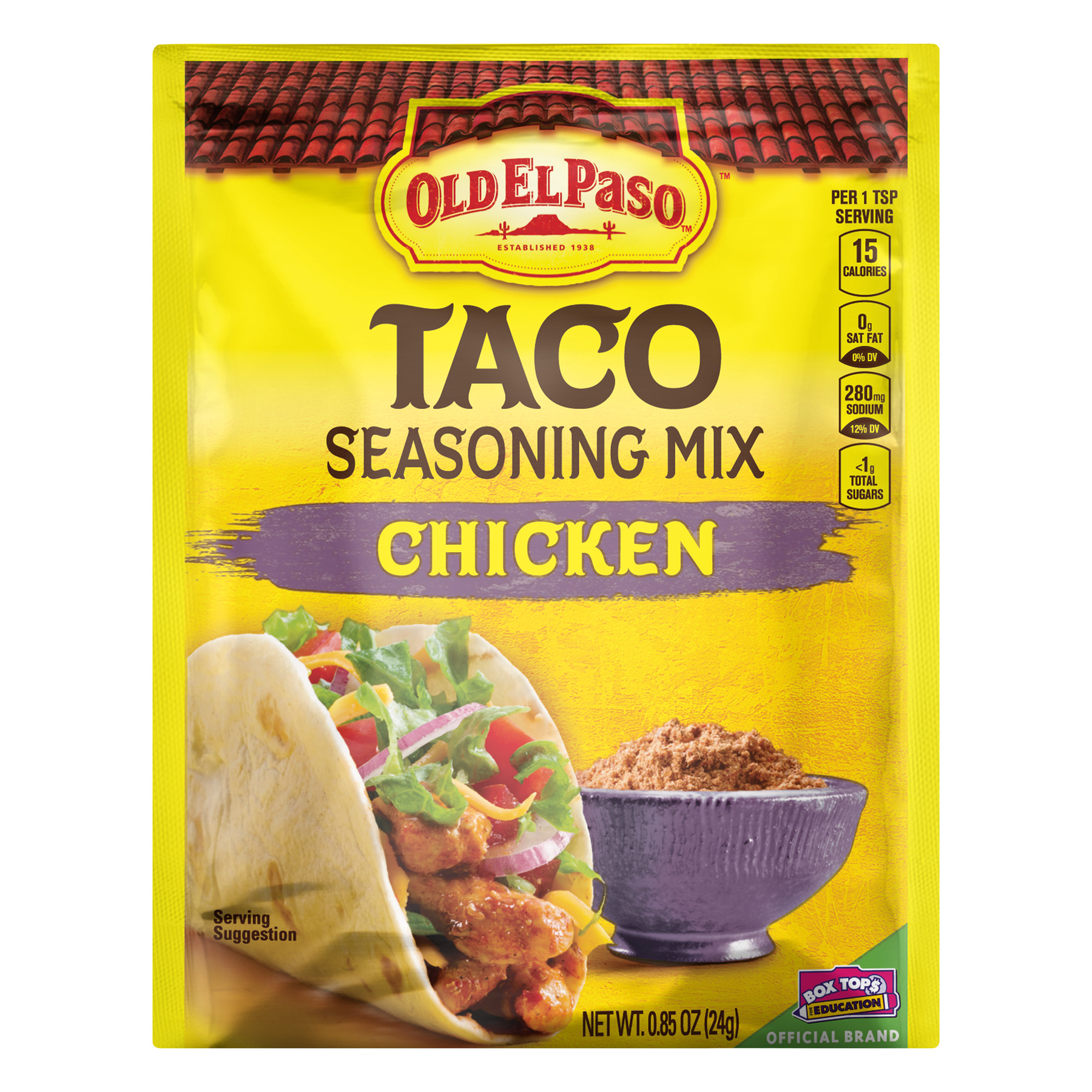 Old El Paso Chicken Taco Seasoning Mix, .85 oz Packet