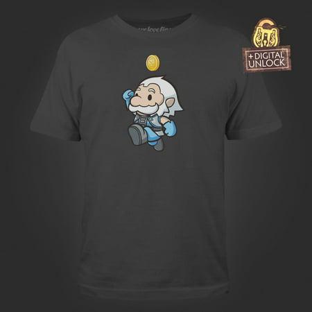 Dota 2 Halloween (DOTA 2 Heavenly Jump Men's Charcoal Tee with Digital Unlock)