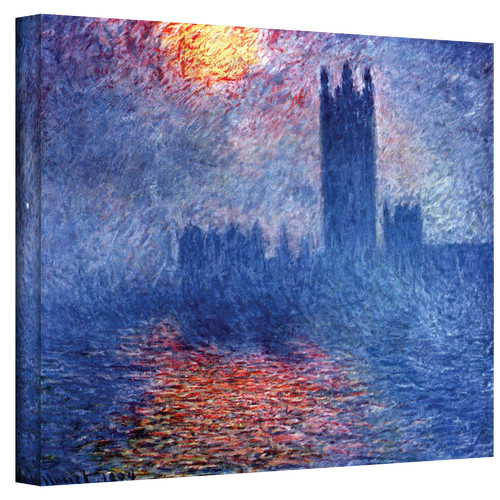 ArtWall ''Houses of Parliament'' by Claude Monet Painting Print on Canvas