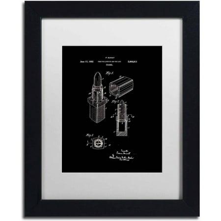 Trademark-Fine-Art-Chanel-Lipstick-Case-Patent-White-Canvas-Art-by-Claire-Doherty-White-Matte-Black-Frame