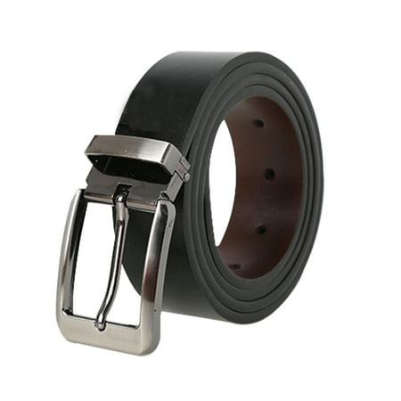 Men Business Casual PU Large Belt Single Pin Buckle Adjustable Width 1