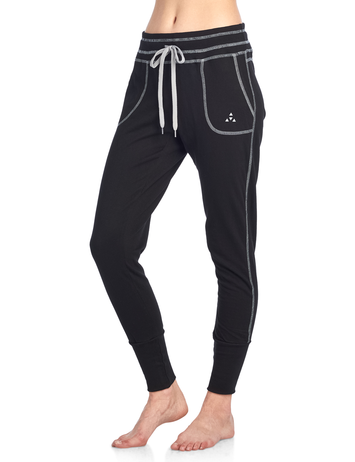 Balanced Tech Women/'s Contrast Seam French Terry Jogger Lounge Pants