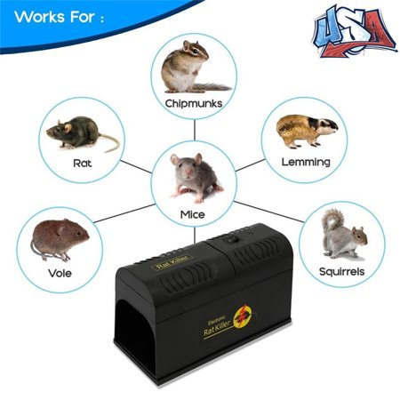 Filfeel Electronic Mice Rat Traps Effective and Powerful killer for Rat,Squirrels Mice and Other Similar Rodents Using High Voltage Humane Exterminating Best Pest (Best Rat Killer On The Market)