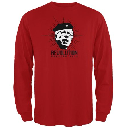 Election 2016 Bernie Sanders Che Guevara Parody Red Adult Long Sleeve T-Shirt for $<!---->