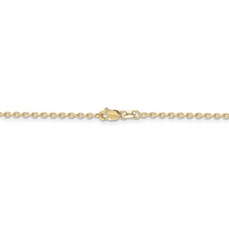 14K Yellow Gold 2mm Cable Chain 16 Inch - image 2 de 5