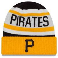 New Pittsburgh Pirates Era Youth Biggest Fan 2.0 Cuffed Knit Hat - White/Yellow - OSFA