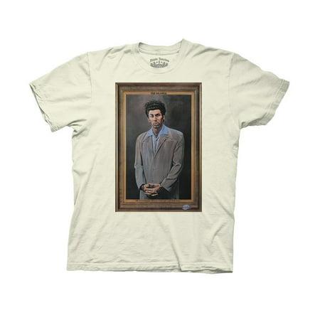 Seinfeld Kramer Photo Adult T-Shirt Natural - Jerry Seinfeld Puffy Shirt