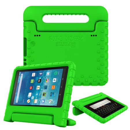 Fintie Case for Amazon Fire HD 8 Tablet - Kids Friendly Shock Proof Light  Weight Convertible Handle Stand Cover, Green
