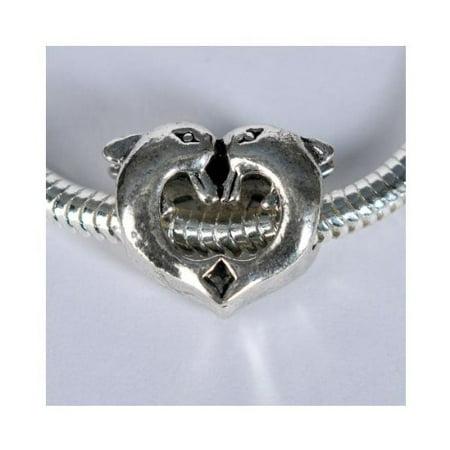 Dolphin Charm Bead. Fits Troll, Zable, Baigi, Chamilia Charm Bracelets. - Beaded Charm Bracelets