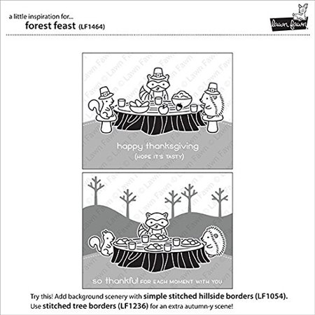 """Lawn Fawn Clear Stamps 4""""X6""""-Forest Feast - image 2 de 3"""